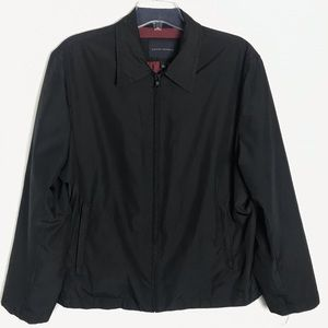 Banana Republic men's black zip front jacket Sz L